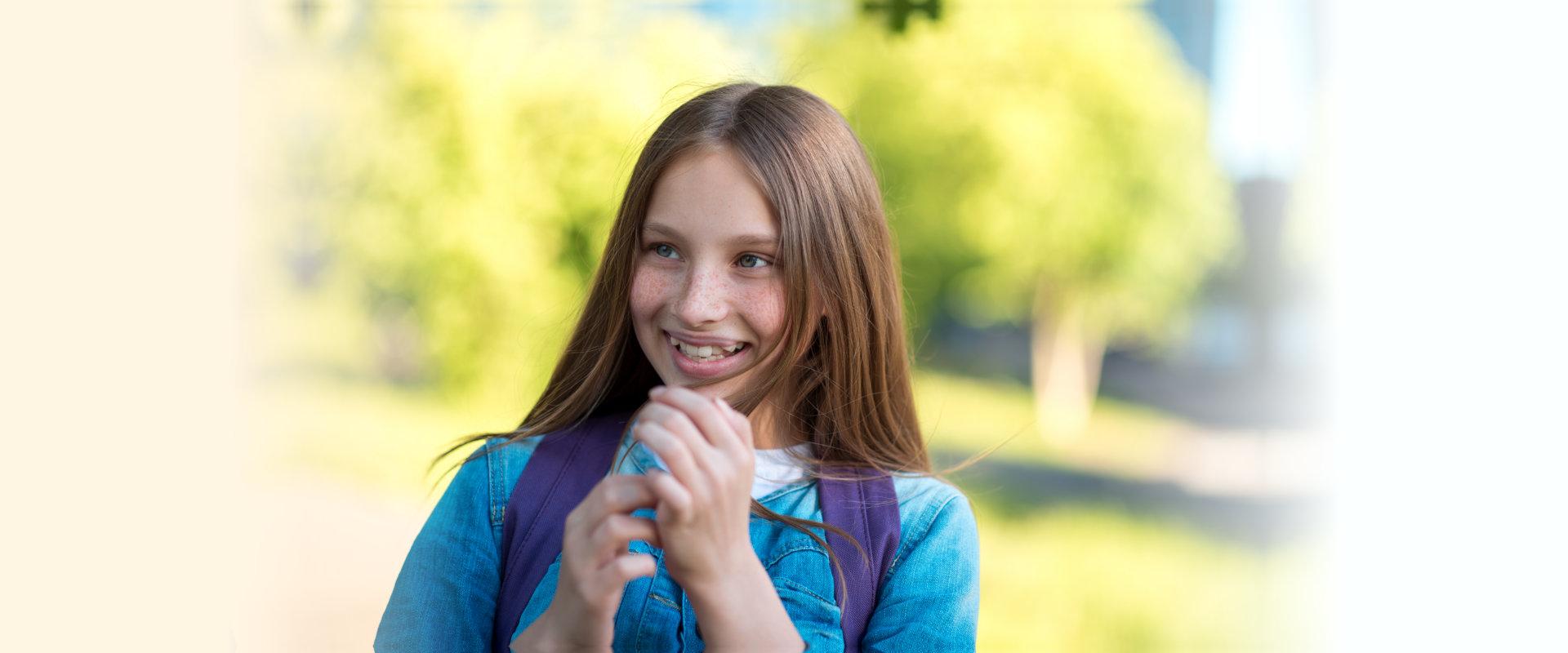 Little girl teenager